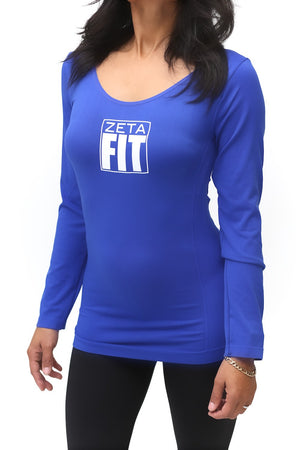 FIT Zeta Warm-Up scoopneck, blue