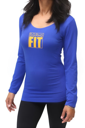 FIT SGRho Warm-Up scoopneck, blue