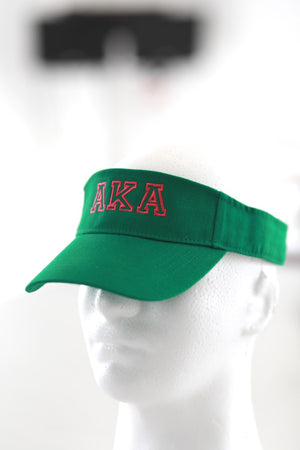 AKA Lined Up visor, green
