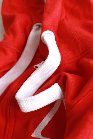 Strong Δ track suit jacket, red/white