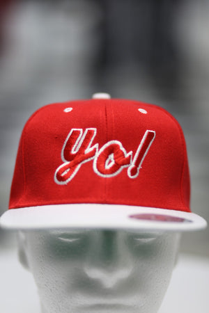 Yo snapback, red/white
