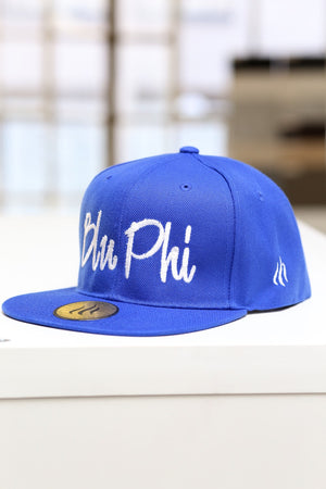 Blu Phi fitted cap, blue