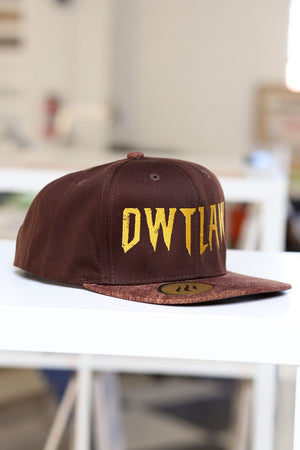 Outlaw snapback, brown