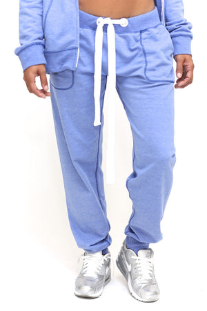 Royalty Blues track suit joggers, blue/white