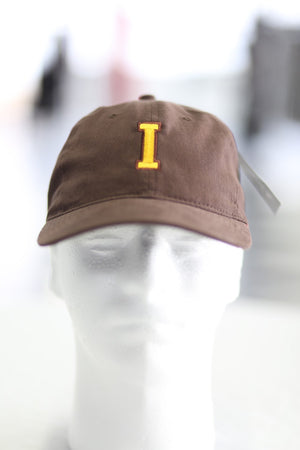 "The ""I"" of Iota polo dad cap, brown"