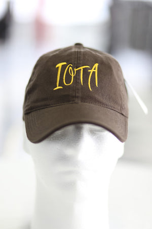 Iota Classic polo dad hat, brown