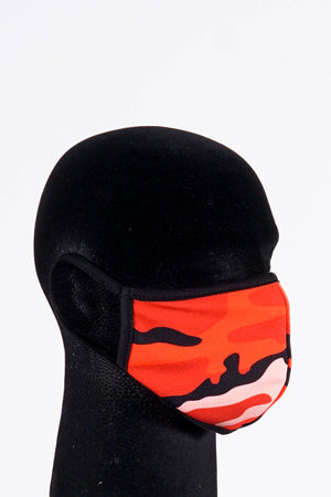 Covered! Camo Army mouth mask, red