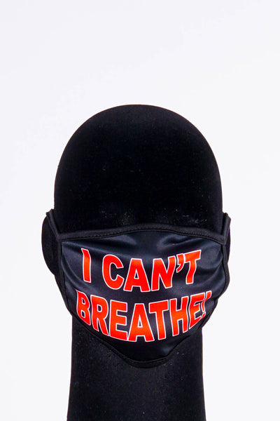 Covered! I Can't Breathe mask, black
