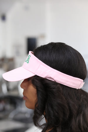 AKA Lined Up visor, pink