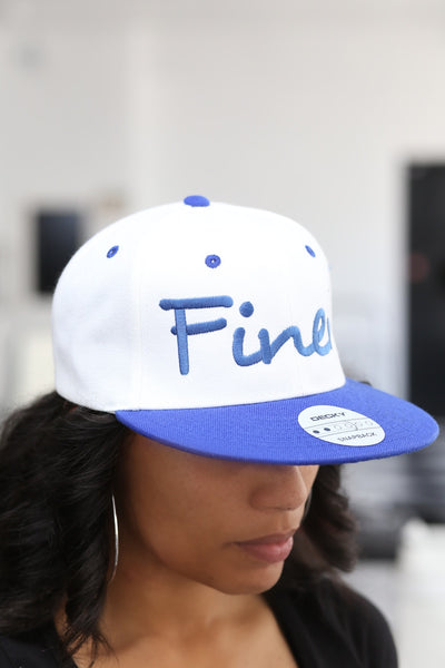 Finer snapback, white/blue