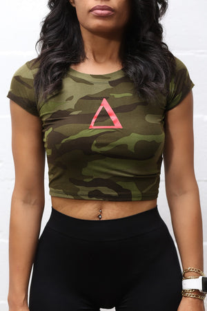 Delta Force v2 crop fitness tee