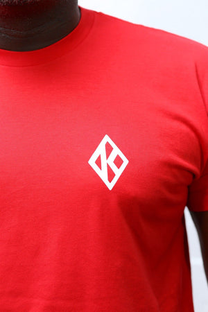 Branded Badge Diamond-K tee, red