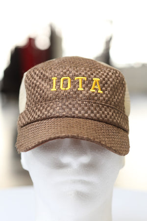 Iota Cadet cap, brown soft tweed