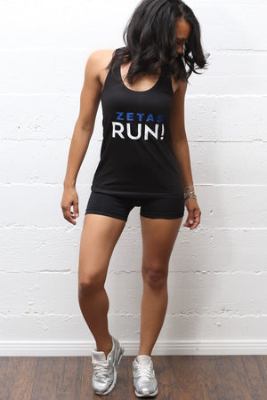 Zetas RUN racerback tank, black