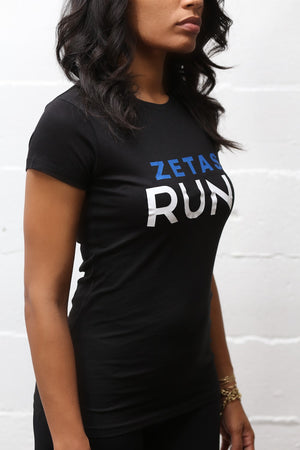 Zetas RUN workout tee, black