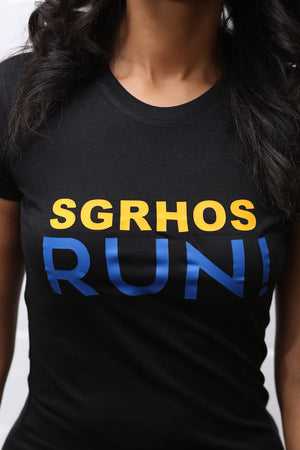 SGRhos RUN workout tee, black