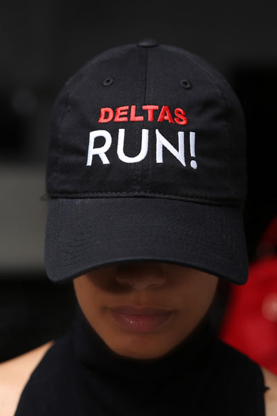 Deltas RUN polo dad hat, black