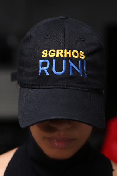 SGRhos RUN polo dad hat, black