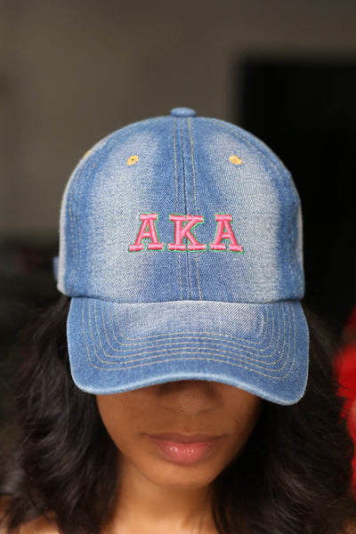 My ΑΚΑ Jeans polo dad hat, light denim