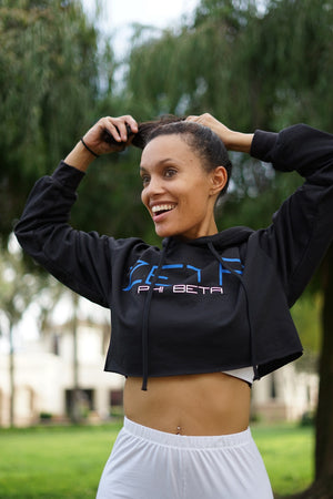 I Said My Soror Zeta cropped hoodie, black