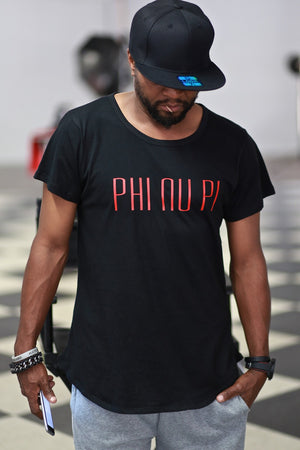 The Perfect Phi Nu Pi tee, black