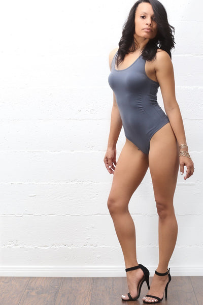 Fresh Out bodysuit, grey