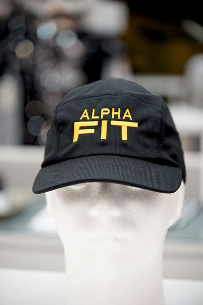 Alpha FIT 5-Panel Dri-Fit/EvapoWEAR™ performance cap, black