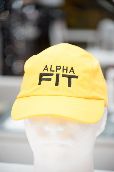 Alpha FIT 5-Panel Dri-Fit/EvapoWEAR™ performance cap, gold