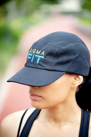 Sigma FIT (sgrho) 5-Panel Dri-Fit/EvapoWEAR™ performance cap, black