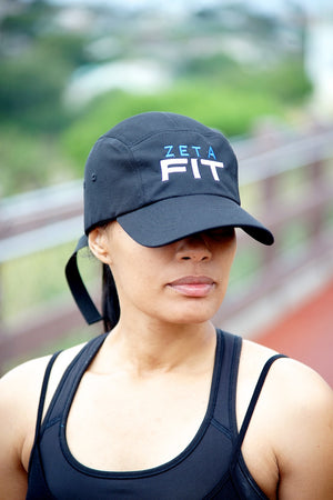 Zeta FIT 5-Panel Dri-Fit/EvapoWEAR™ performance cap, black