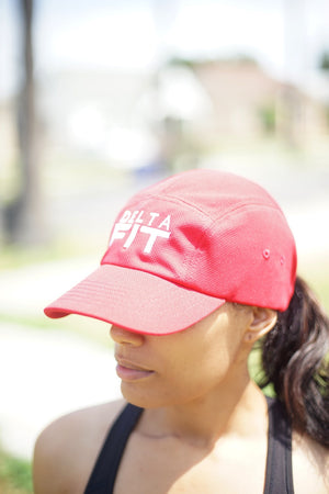 Delta FIT 5-Panel Dri-Fit/EvapoWEAR™ performance cap, red