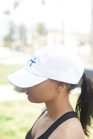 Zeta FIT 5-Panel Dri-Fit/EvapoWEAR™ performance cap, white