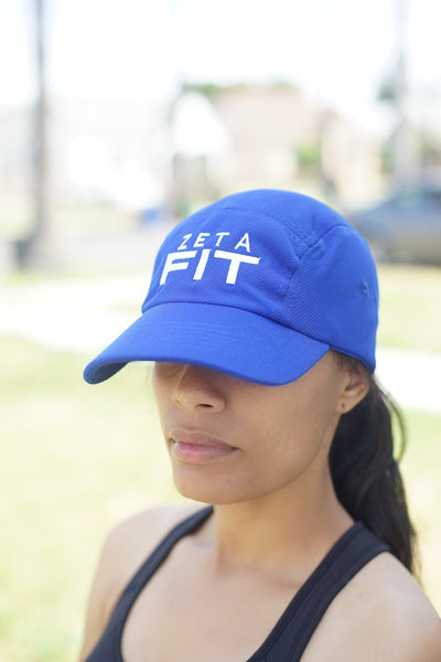 Zeta FIT 5-Panel Dri-Fit/EvapoWEAR™ performance cap, blue