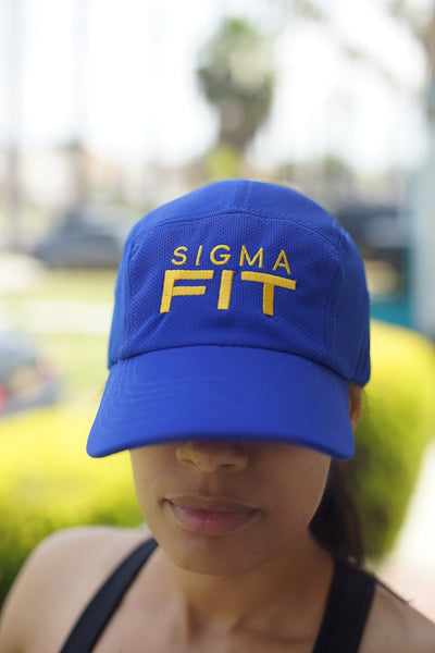 Sigma FIT (sgrho) 5-Panel Dri-Fit/EvapoWEAR™ performance cap, blue