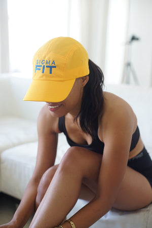 Sigma FIT (sgrho) 5-Panel Dri-Fit/EvapoWEAR™ performance cap, gold