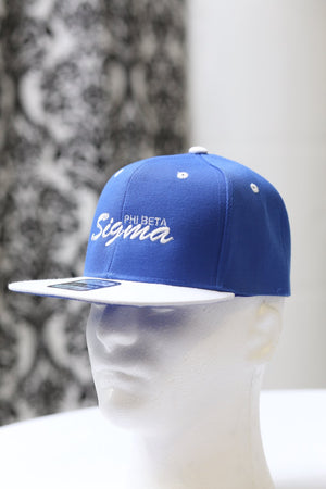 Phi Beta Sigma Signature snapback, blue/white