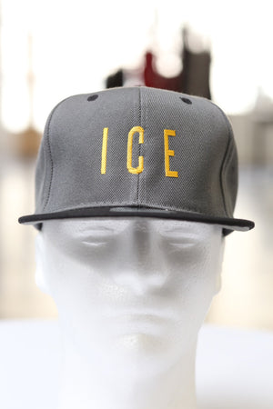 Cold As ICE snapback, black/grey