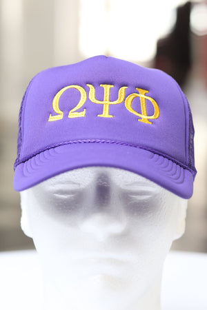ΩΨΦ Southern Boy trucker, purple
