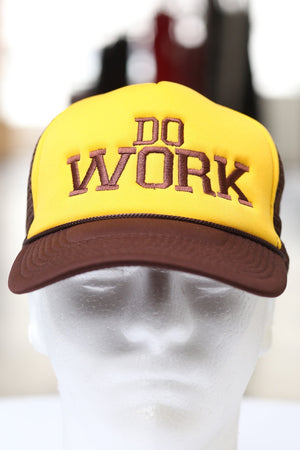 Do Work trucker, brown/gold