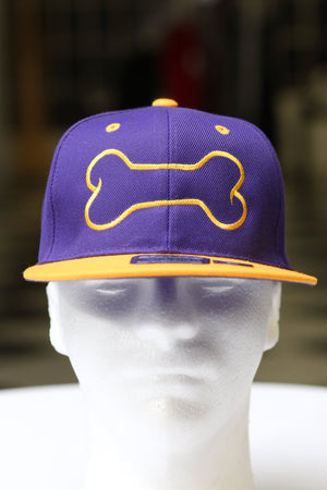 Dawg Bone snapback, purple/gold