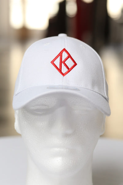 Diamond-K Klassic fitted sport cap, white