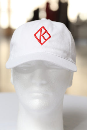 Diamond-K Klassic polo dad hat, white