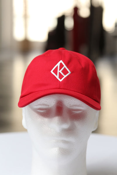 Diamond-K Klassic polo dad hat, red