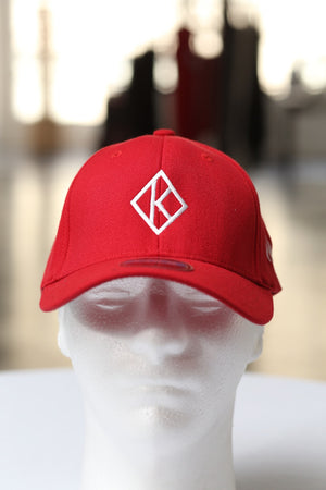 Diamond-K Klassic fitted sport cap, red