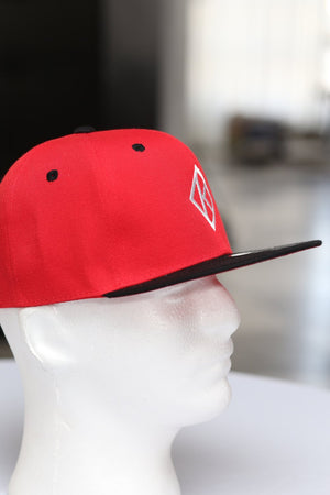 Diamond-K Klassic snapback, red/black