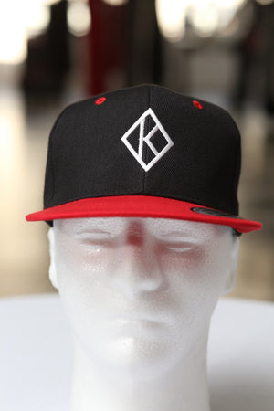 Diamond-K Klassic snapback, black/red