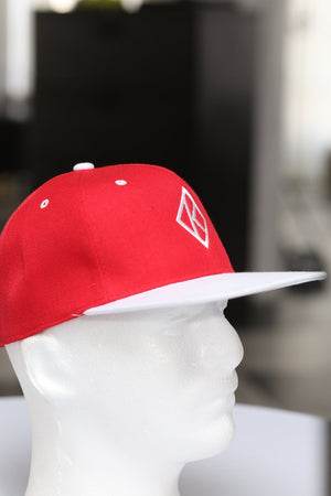 Diamond-K Klassic snapback, red/white