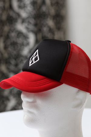 Diamond-K Klassic trucker, red/black