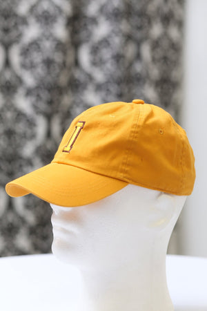 "The ""I"" of Iota polo dad hat, gold"