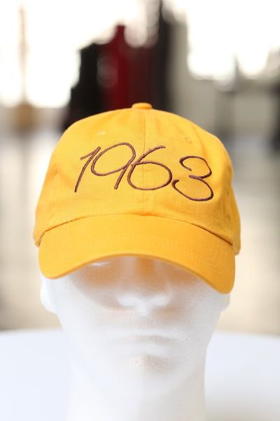 1963 Classic polo dad hat, gold